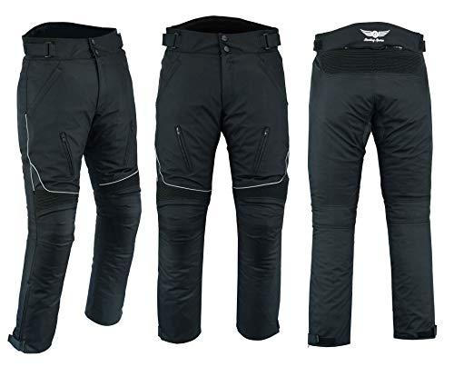 Sterling Sports® Herren-Motorradhose, wasserdicht, Thermohose, Cargo-Hose, schwarz, Cameo, grau, grün (schwarz, Taille 36 Beinlänge 32)