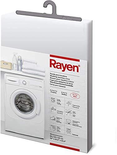 Rayen | Funda para lavadora basic | Funda lavadora de carga frontal | Cubierta impermeable para lavadora/secadora | Cierre con velcro | 84 x 60 x 60 cm
