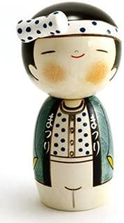 Japanese Creative Kokeshi Wooden Doll Boy 5.75