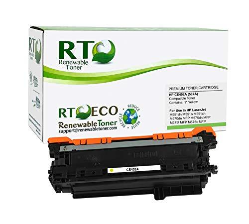 Renewable Toner Compatible Toner Cartridge Replacement for HP 507A CE402A Laserjet Enterprise 500 M551dn M551n M551xh M570dn MFP M575dn MFP M575f MFP M575c MFP (Yellow)