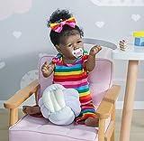 Zero Pam Toddler Reborn Dolls Bathable Full Body Silicone Reborn Baby Dolls 22 inch Black Girl African American Realistic Dolls Saskia Girls Gifts