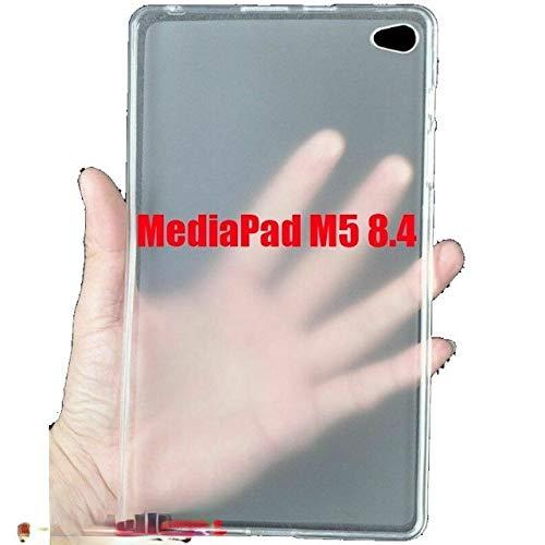 JiuRui Custodie e Cover per Huawei MediaPad T3 M3 M5 T5 Tablet 7 8 10 Pollici, Silicone Opaco Trasparente Libera Molle TPU appoggia paraurti Antiurto