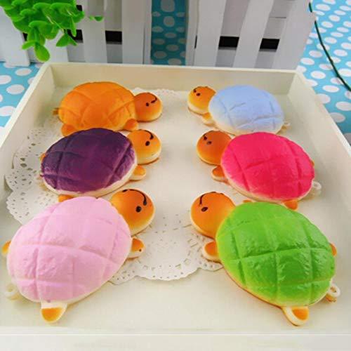 Figurines & Miniatures - 7cmx4.5 Cm Kawaii Soft Yellow Turtle Bun Squishy Turtles Bread Pretend Toys 1pcs Decoration Crafts - Turtles Kids Toys Decoration Self Home Craft Assorted Black D