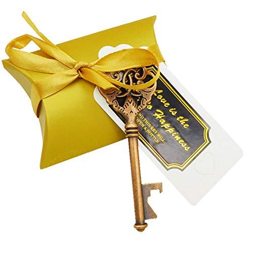 Changor Sacacorchos de Oro, con aleación de Zinc 50pcs Calidad de aleación de Zinc Teclas de abrelatas