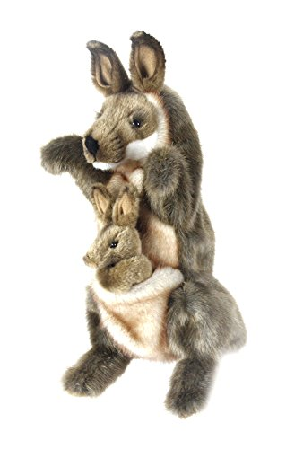 HANSA–Canguro de Peluche marioneta 35CMH