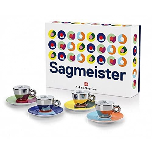 Illy Art Collection Stefan Sagmeister Set 4 Tazas de café Espresso