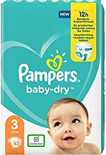 Pampers Baby-Dry Tape Diapers (6kg-10 kg) Size 3 Crawler, 42 count