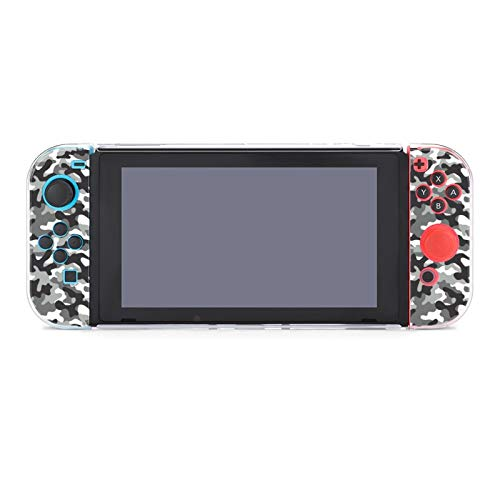 Protective Case Cover for Nintendo Switch Camouflage Army Texture Vector Background Camo Military Navy Abstract Black Dockable Case Compatible with Nintendo Switch Console and Joy-Con Controller