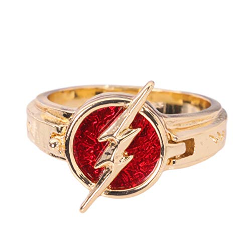 Xcoser The Flash Anello Reverse Flash Anello in Lega di Zinco Accessori Cosplay Costume Replica Gioielli per Adulti Collezione Regalo Uomo (The Flash Anello)