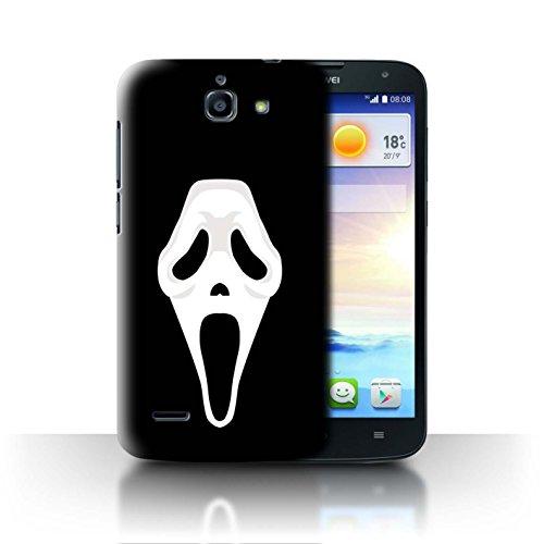 Hülle Für Huawei Ascend G730 Grusel Filmkunst Scream Maske Inspiriert Kunst Design Transparent Ultra Dünn Klar Hart Schutz Handyhülle Case