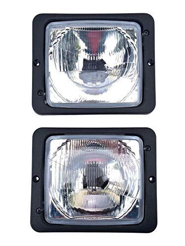 2 x koplampen, grootlicht, dimlicht, H4, 172x142, tractor, Zetor Atlas Fendt IHC