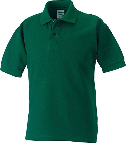 Jerzees Russell Schoolgear 539B Kinder Klassische Polycotton-Poloshirt - Flaschengrün, 134-140