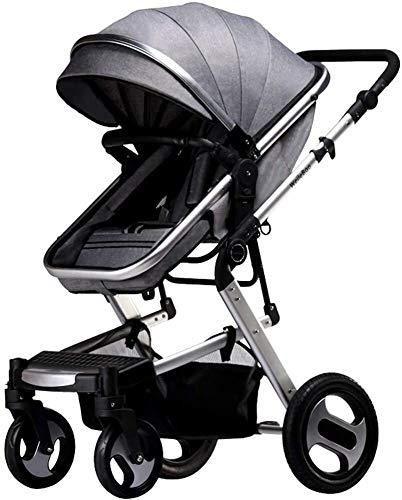BESTPRVA Portátil cochecito de bebé cochecito de bebé del carro de 2 en 1 cochecito de bebé, infantil paisaje de la alta Cochecito y reversible del cochecito de niño, plegable Silla de paseo con dosel