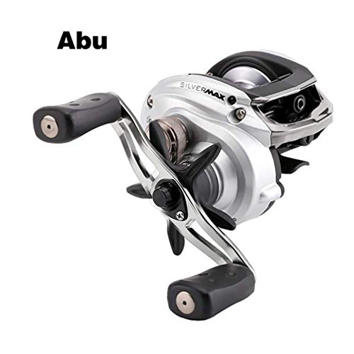 GEETAC Angelrolle, Silber MAX3 SMAX3 Links rechts Hand BaitCasting Angelrolle 5 + 1BB 6.4: 1 209g Ködergußteilbandspule Ultra Smooth Low Profile Angelrolle