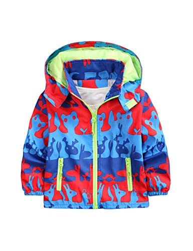 besbomig Winddicht Fleece Kinder Jacken Jungen Winter - Softshell Camouflage Kapuze Oberbekleidung Leicht für Kinder