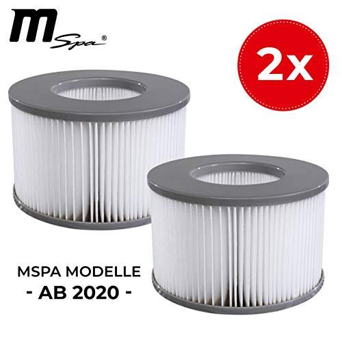 Miweba MSpa Whirlpool Ersatz Filter Filterkartusche Doppelpack für aufblasbare Pools - Modelle ab 2020 - Delight - Premium - Elite - Concept (Wasserfilter Modell ab 2020)
