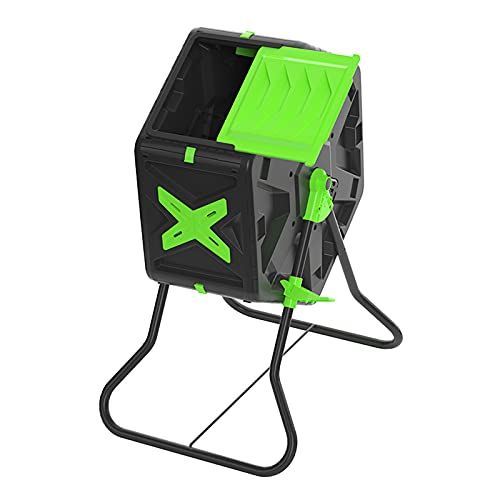 Xgxyklo Compostador Giratorio De 18,5 Galones / 70 litros, Tambor De Compost De Una Cámara, Cubos De Basura para Jardín Al Aire Libre, Sistema De Aireación Y Mezcla