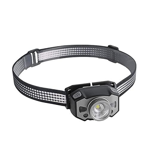 ELXSZJ XTZJ Linternas de Faro LED, Faros Recargables con 3 Modos, Super Brillante, liviano y cómodo, Adultos y niños Que Funcionan, Camping, Senderismo y más, batería y Cable USB Incluido