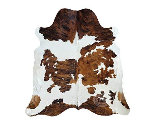 Alfombra de Piel de Vaca Tricolor 220 x 200 cm - Calidad