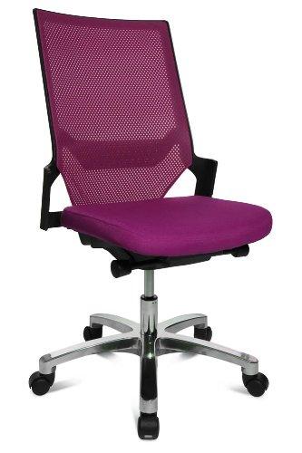 Drehstuhl Autosynchron®-1 Alu violett mit Aluminium-Fußkreuz Rückengestell schwarz ohne Armlehnen