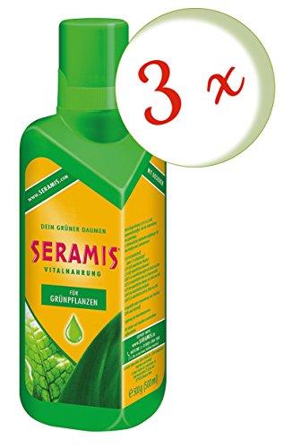 Oleanderhof® Sparset: 3 x SERAMIS® Vitalnahrung für Grünpflanzen, 500 ml + gratis Oleanderhof Flyer