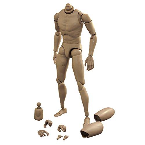 HomeDecTime Action Figure Männlichen Body Figur Kinder Spielzeug 1:6 Für TTM18 TTM19