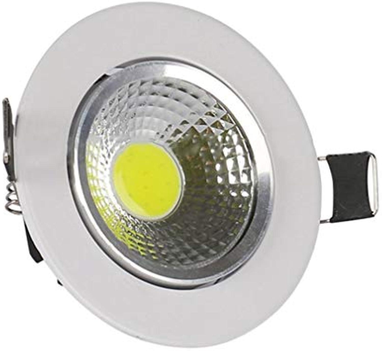 TiooDre 5W LED Strahler Indoor COB-Deckenleuchte Spot-Licht runde weie Instrumentenbeleuchtung