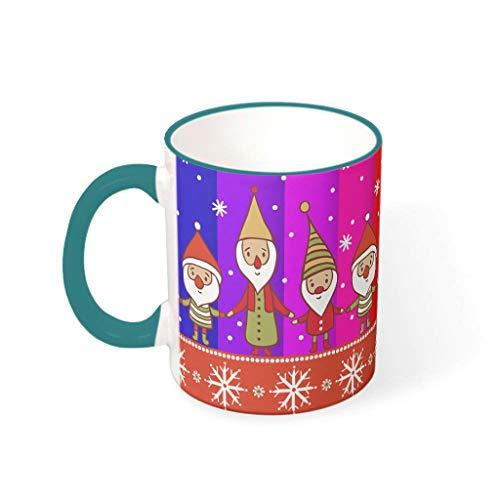Taza de café personalizada de porcelana con diseño de gnomo de la mano del arcoíris de KittyliNO5, regalo para té secreto (330 ml)