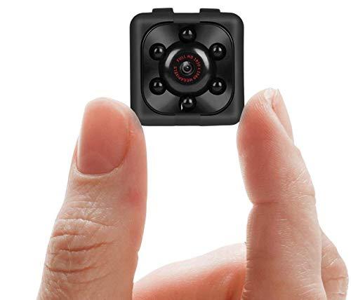 OJX Mini Spy Camera Full Hd 1080p with Motion Detection and Night Vision Nanny Cam Body Camera Hidden Spy Camera Small Size – Sq 11