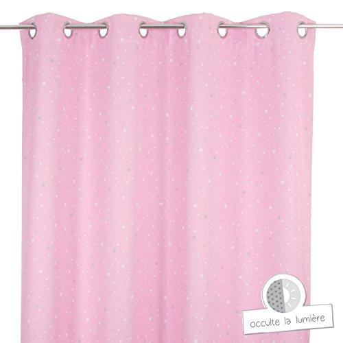 Tenda oscurante per cameretta bambini, colore: rosa, motivo con stelle