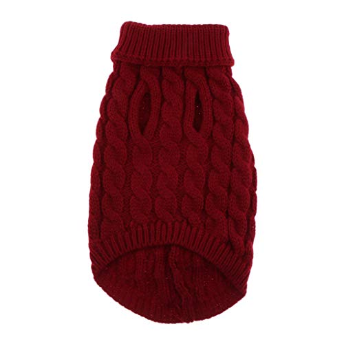 Baoblaze Niedliche Gestrickte Hundepullover Für Kleine Hunde Mädchen Jungen Katzenpullover - Rot, L