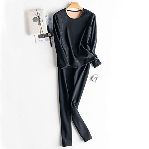 BLINGHG Thermo-ondergoed voor dames en volwassenen, uniseks, van kasjmier-velours, warm, 2 stuks