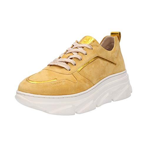 bugatti Damen 412844023449 Sneaker, Gelb (Yellow/Metallic 5090), 38 EU