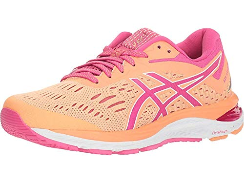 ASICS Gel-Cumulus 20 Women's Running Shoes, Mojave/Fuschia Purple, 8 M US