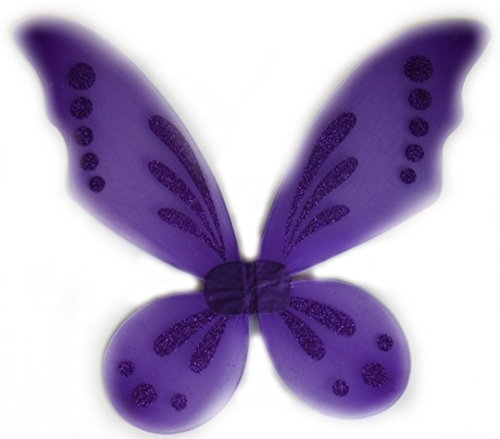 Rush Dance Pixie Fairy Angel Wings Tinkerbell Princess Tutu Dress up Costume (One Size, Purple)