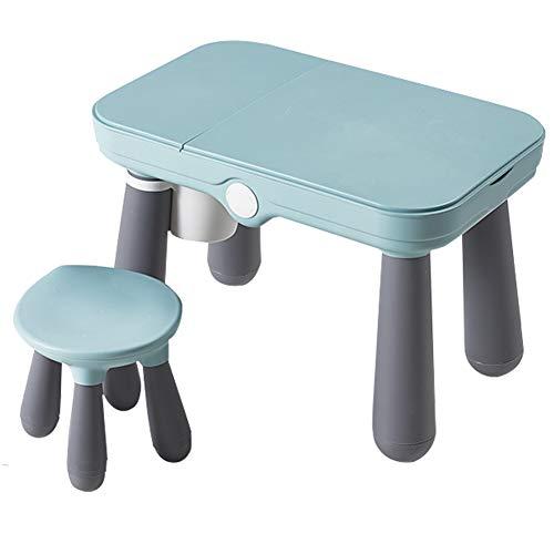 LYXCM Multi Activity Tischset, Umweltschutzmaterial Kids Combined Table Chair Set mit 360 ° drehbarem Aufbewahrungsbox/Draw Board Building Blocks Tischset