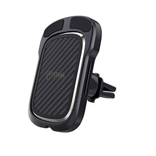 pitaka magnetische Kfz-Halterung Kabelloses Aufladen[ Lüftungsgitter MagEZ Mount Qi ]schnell induktiver Qi-Handyhalter kompatibel mit MagEZ Case für Samsung Galaxy S20/Note20 Ultra Oder Huawei P40 Pro