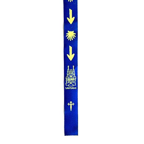Pulsera de cinta concha de vieira jacobea y flecha