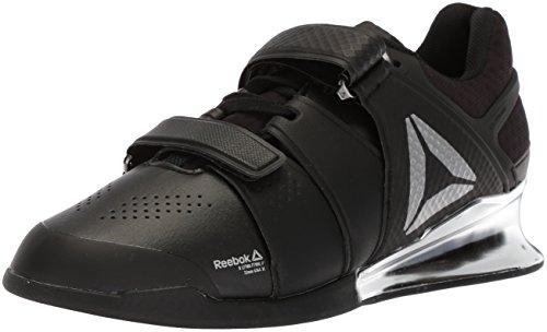 Reebok Men's Legacy Lifter Sneaker, Black/White/Silver 1, 6.5 UK