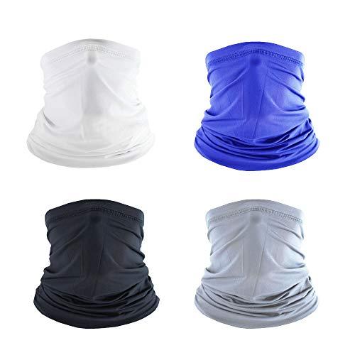 4 Pcs Cooling Neck Gaiters for adult & child/Kids Neck Gaiter UV Dust Masks (adult)