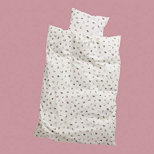 Babybettwäsche 70x100 - Original von Leander passend für Leander, Linea und Luna Babybett - Farbe: dusty rose