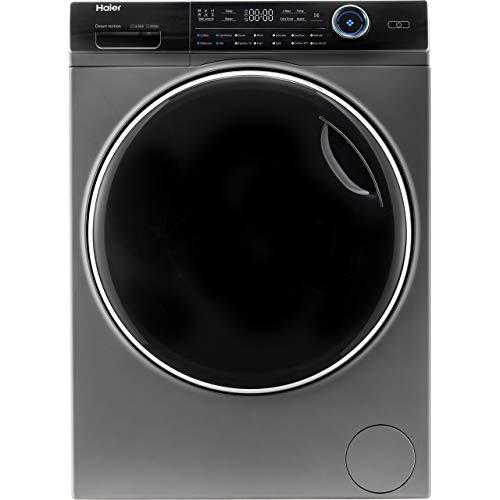 Haier HW100-B14979S Freestanding Washing Machine, 10kg Load, 1400RPM, Graphite