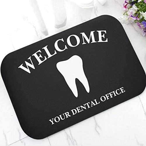 N/A Antideslizante Felpudo Felpudo Personalizado para Clínica Dental, Felpudo De Goma con Logo De Empresa Dental, Distintivos Dentales Alfombra Felpudos De Bienvenida