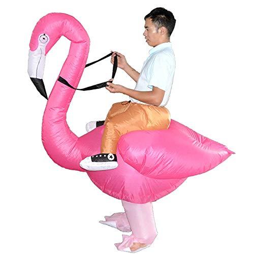 QSEFT Trajes Inflables del Flamenco para El Paseo del Adulto/del Niño En Los Juegos De Cosplay Animal Fancy Dress Trajes De La Mascota del Partido del Carnaval De Halloween,Adult
