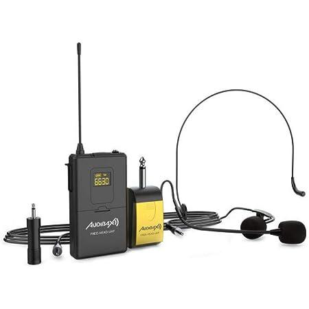auna VHF-2-HS Set micrófonos inalámbricos VHF de 2 canales ...