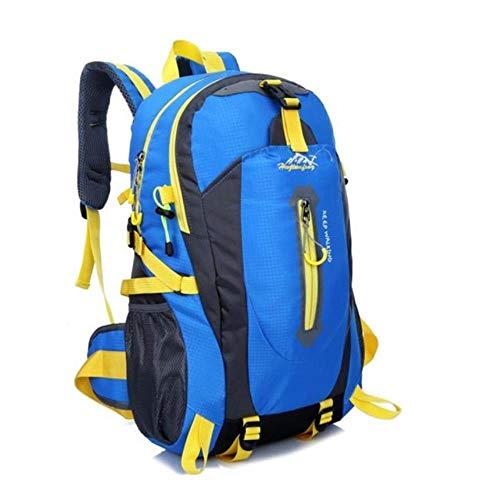 Huien Buitensporten Bergbeklimmen Rugzak Kamperen Trekking Rugzak Reizen Waterdichte hoes Fietstassen, Blauwe kleur, 30-40L