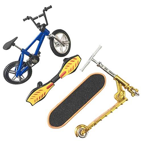 shenruifa Finger Skateboards, Mini Guer Finger Skateboard Rampas Conjuntos de Juguete Educativo Divertido Bicicleta Scooters Fiesta Favores para Niños Niñas Niños