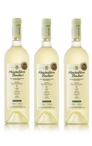3x 750 ml Moschofilero trockener Weißwein aus Griechenland Weiß Wein trocken + Probiersachet 10 ml Olivenöl aus Kreta