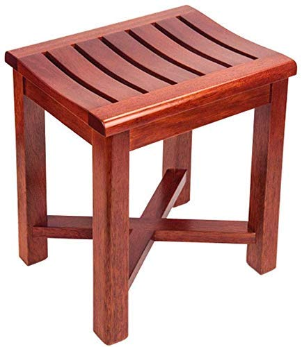 ZXY-NAN Bathroom Wheelchairs Bathroom Stool Solid Wood Stool Waterproof Non-Slip Bench Shower Room Stool Dining Table Seat Suitable for The Elderly Disabled