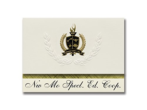 Signature Announcements Nw Mo Specl. Ed. Coop. (Maryville, MO) Graduation Announcements, Presidential style, Basic package of 25 with Gold & Black Metallic Foil seal -  Signature Announcements, Inc, PAC_BASICPres_HS25_118190_206041